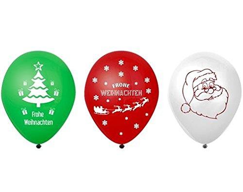 3 lichtgevende ballonnen LED Kerstmis