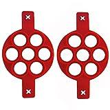 Gflyme 2er Pack Pfannkuchenformhersteller, Antihaft-Silikon-Eierringe Eierkocher...