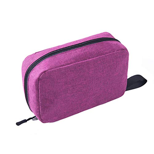 Confortabil Hanging Toiletry Bag Makeup Bag Cosmetic Organizer Makeup Pouch Handmade Waterproof Travel Wash Bag for Women and Men (Wine Red)