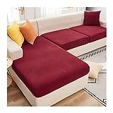 ZIJ Funda de cojín para sofá de esquina de felpa suave y seccional, funda protectora de colchón, funda elástica para chaise longue (color: color3, especificación: tamaño 4)
