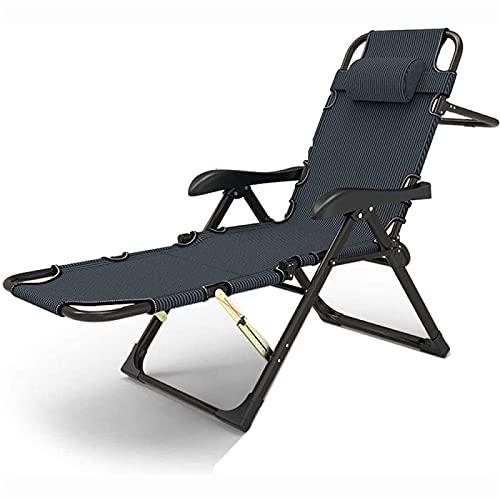CHLDDHC Sedia a Sdraio in Alluminio, sedie Pieghevoli Regolabili, Sedia da Spiaggia per Il Tempo Libero da Esterno, Sedia da Letto Classica con Linguetta