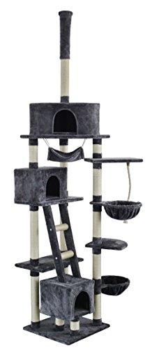 """animal-design Katzenkratzbaum Kletterbaum Deckenkratzbaum """"Big Star"""" Deckenhoch in grau Höhe 230-250cm Katzenbaum"""