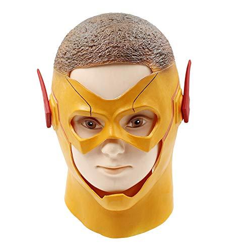 KYOKIM Adulto Máscara De Flash Cosplay Superhéroe Halloween Navidad Celebracion Helmet Unisex Talla Única