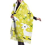 Vikimen Wickelschal Große Schals Fransenschal Scarf Yellow Baby Goats Large Soft Cashmere Shawl Wrap Scarf For Woman