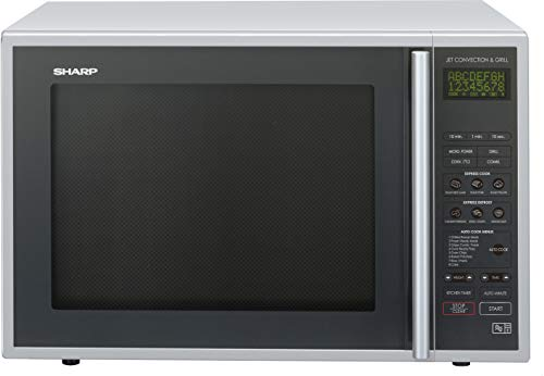 Sharp R959SLMAA Combination Microwave Oven, 40 Litre capacity, 900W, Silv