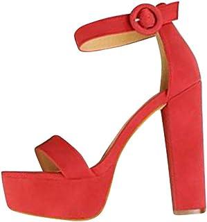 Para 37 esZapato Tacón Amazon Zapatos Suela De Goma H9WDIb2YeE