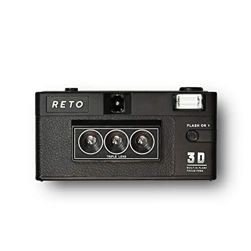 RETO 3D Classic - 3D Kamera - Mursa Masa Effekt - 3D Foto - Alternative zu Nishika n8000 und Nimslo 3D - Retro 3D