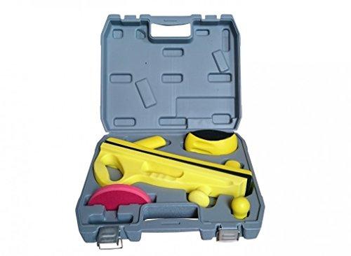 Schleiffeilen- und Schleifblock Set 6-teilig im Koffer