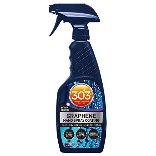 303 Graphene Nano Spray Coating - Next Level Carbon Polymer Protection - Enhances Gloss and Depth - Reduces Water Spotting - Extreme Hydrophobic Protection - Beyond Ceramic, 15.5 fl. oz. (30236CSR)