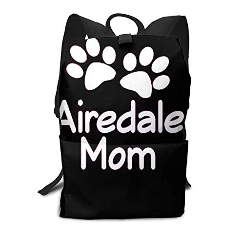 Homebe Airedale Terrier Dog Mom Art Rucksäcke,Daypack,Schulrucksack Für Jungen und Mädchen Travel Hiking Small Gym Teen Little Girls Youth Boy Women Men Kids Backpack Mini Book Back Bag Bookbag