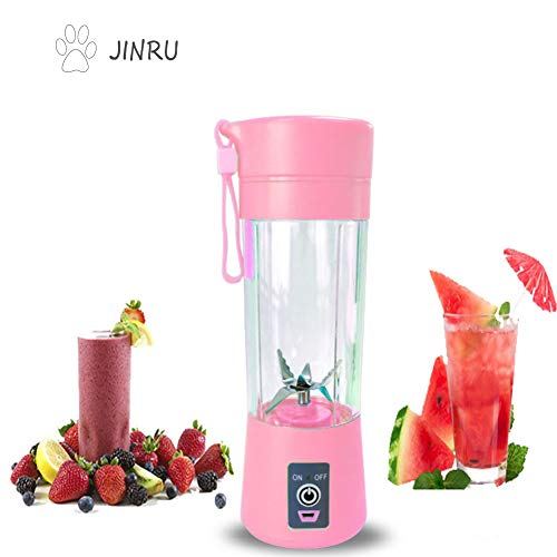 Affordable JINRU Portable Blender, Fruit, Smoothie, Baby Food Mixing Machine with Updated 6 Blades