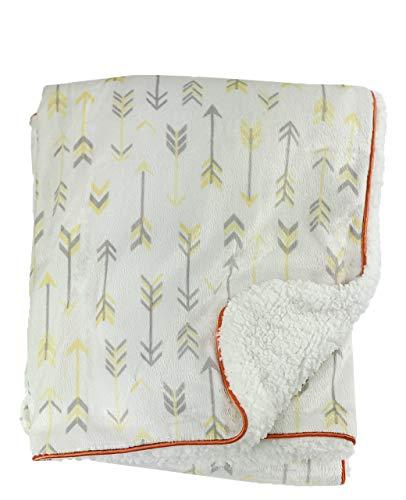 Flèches Design – Blissfully Soft Couverture en fourrure pour nouveau-né – Idéal pour le voyage (siège auto), landau/poussette, berceau, couffin (jaune)