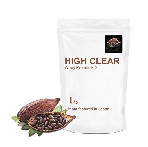 HIGH CLEAR(ハイクリアー)WPCホエイプロテイン100 1kg プレミアムココア
