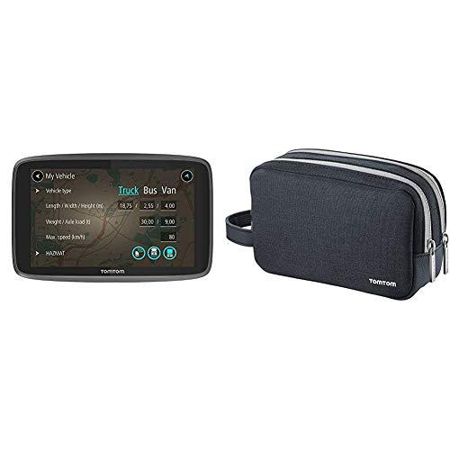 TomTom LKW Navigationsgerät GO Professional 520 (5 Zoll) & Reisetasche (geeignet für alle TomTom Navigationsgeräte mit 4,3-, 5- und 6-Zoll-Display, z.B. Start, Via, GO, Rider, Trucker, GO Basic)