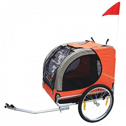 Remolque De Bicicleta De Perro (Naranja)