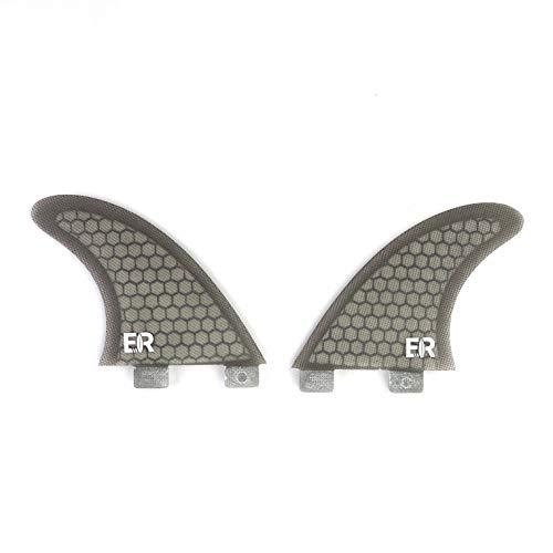 Eisbach Riders Aletas para tabla de surf FCS Honeycomb Side Bites – Tamaño GX (gris)