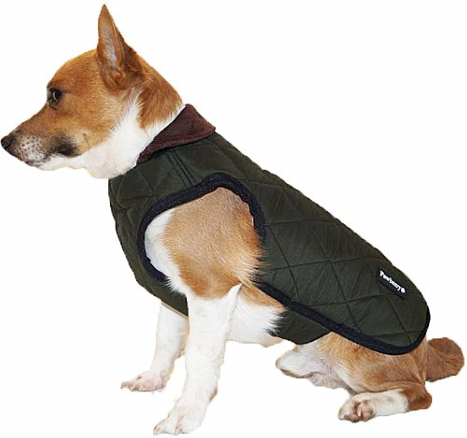 Pawberry Classic Dog Coat with Built in Harness S 31 CM GREEN