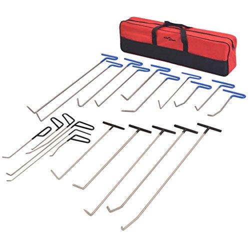 Luckyfu Set 21 pZ Retrait Débosselage sans Peinture Acciaio. Accessoires pour véhicules boîte à Outils du véhicule réparation du véhicule