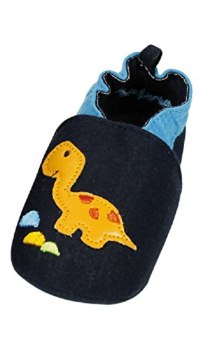 maximo 55203-736400 Babyschuhe mit ABS Sohle und Gummiband -Motiv Dino (18)