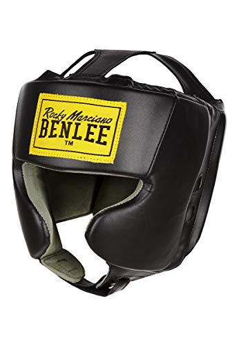 BENLEE Rocky Marciano Unisex Jugend Mike JUNIOR Artificial Leather Head Guard, Black