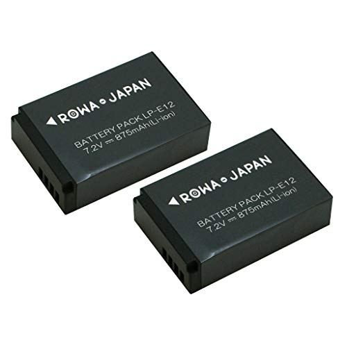 【国内向け日本規制検査済】2個セット Canon LP-E12 互換 バッテリー 残量表示 純正充電器対応 ロワジャパンPSEマーク付 【実容量高】