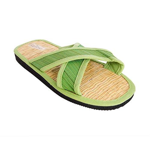 Sonnenscheinschuhe® Zimtlatschen X-Saigon Lindgrün Gr. 35-46 NEU grün Sandalen Zimt (37/38)