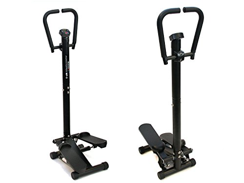MAXOfit Home-Stepper MF-3 Fitness Ministepper mit Hand-Griff und LCD-Display Twister Up-Down-Stepper TÜV-geprüft