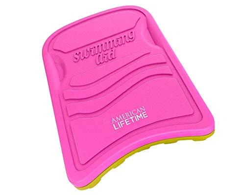 American Lifetime Kickboard, Lightweight Foam Swim Board, Swimming Training Aid for Adults and Kids, Kickboard, Pink