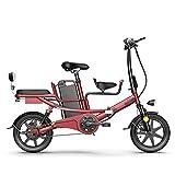 bicicleta electrica plegable ligera Bicicletas eléctricas plegables for adultos de 14 pulgadas Bicicleta eléctrica 4 8v 400w Motor de litio batería disco freno de freno de acero al carbono E-bike