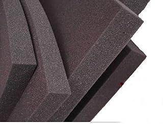 lulushop Glatt-Schaumstoff-Daemmung-Schallschutz-Fester-Rolllaeden-platten Dämmung Schaumstoff Noppenschaum100x50-cm Weiß und Schwarz 100x50x 5cm, Schwarz