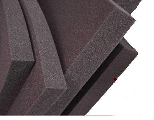 lulushop Glatt-Schaumstoff-Daemmung-Schallschutz-Fester-Rolllaeden-platten Dämmung Schaumstoff Noppenschaum100x50-cm Weiß und Schwarz (100x50x 3cm, Schwarz)