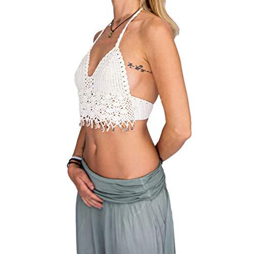 Mienloco gehaakt dames bovenstuk met schelpen tank tops bikini