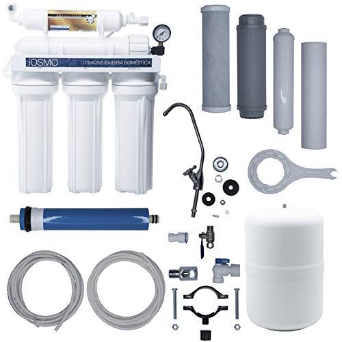 Hidro Water Equipo de Ósmosis Inversa Domestica iOSMO | Ósmosis Inversa 5 Etapas | Filtros y...