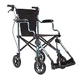 WXDP Autopropulsado, Plegable Ligero Mayores Aleación de Aluminio Scooter Portátil Manual Viejo Carro para discapacitados