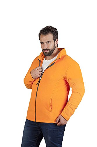 Promodoro Leichte Fleece Jacke C+ Plus Size Herren, 4XL, Orange