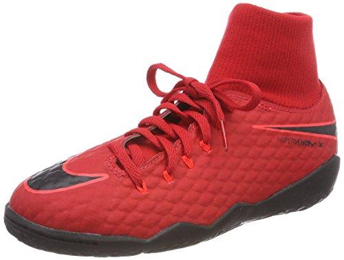 Nike Unisex-Kinder JR Hypervenomx Phelon 3 DF IC Fußballschuhe, Rot (University Red/Bright Crimson/Black 616), 35.5 EU