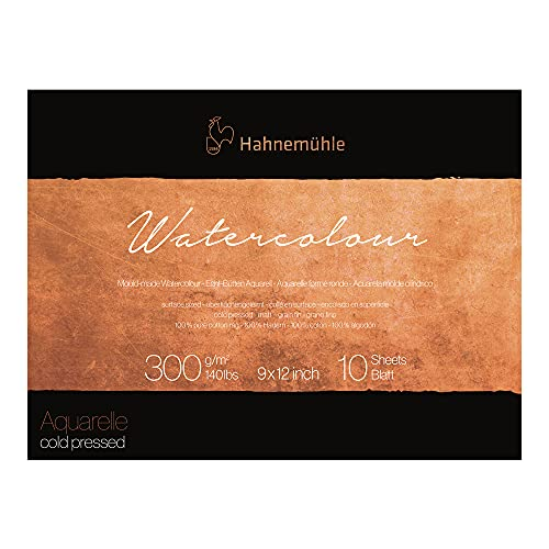 Hahnemuhle Collection Watercolor 300 Block Cold Pressed 9x12 300gsm