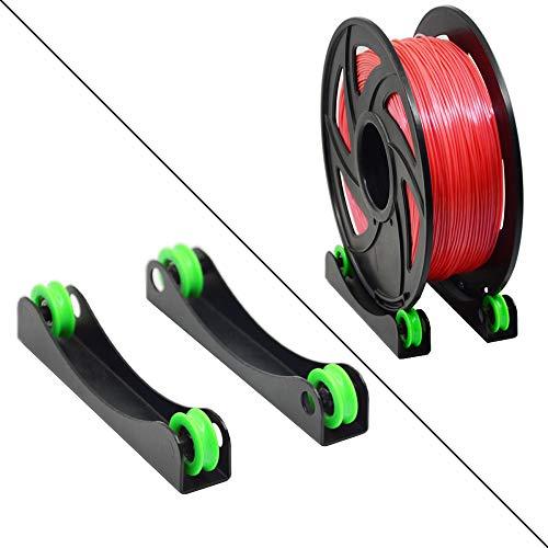 Iverntech - Soporte de filamento para impresora 3D PLA, ABS, madera, TPU, nailon, materiales flexibles