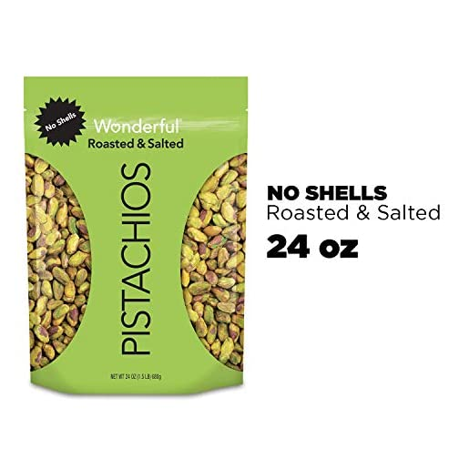 Wonderful Pistachios, No Shells, Roasted & Salted, 24 Ounce Resealable Bag 3