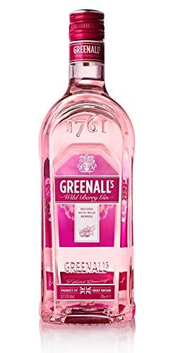 Greenall's Wild Berry Gin 37,5% vol., Premium Gin mit Brombeer und Himbeer Note (1 x 0.7 l)