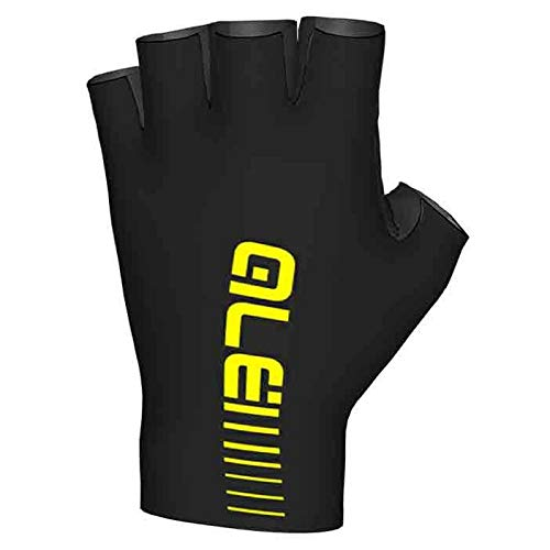 Guanti Ale Sunselect Crono Glove, NERO-GIALLO FLUO, M