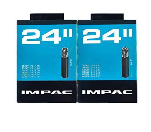 Impac 2 tubos de ciclo de 24 pulgadas Schrader válvula (válvula tipo coche) – 24 x 1.50-2.35 (40-507/60-507)