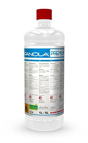 Planika Fanola – 96,6% bioetanolo in bottiglie da 1 litro: 12 litri
