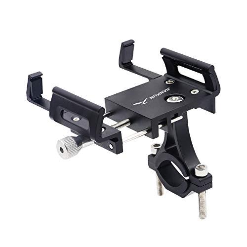 jiankun Soporte para teléfono para Bicicleta y Motocicleta, Soporte Universal para teléfono para Bicicleta con aleación de Aluminio con rotación de 360 ° para la mayoría de teléfonos(B-Negro)