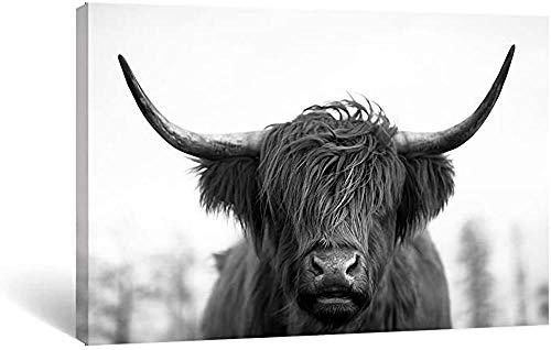 SHENGMIAO - Póster, diseño de vaca natural Peeking Cow de alta calidad – Imagen de vaca, granja, animales de granja