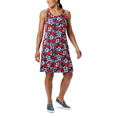 Columbia Women's Standard Freezer III Dress, Collegiate Navy Vacay Vibes Print, Medium