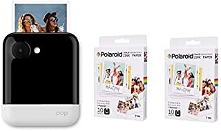 Polaroid POP Instant Print Camera White with Polaroid Zink 3.5 X 4.25-20 sheets Pack
