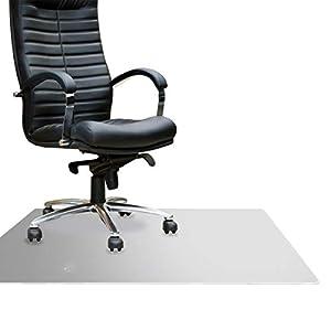 "Floortex Cleartex MegaMat Heavy-Duty Polycarbonate Chair Mat for Hard Floors and Carpets, 46"" x 53"", Clear (FCM121345ER)"