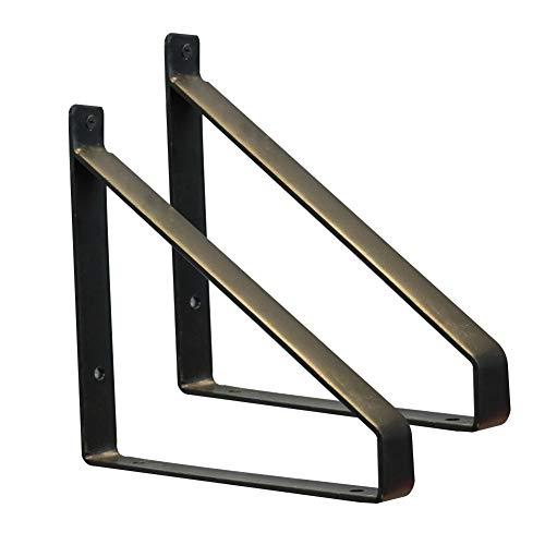 Hochlast-Stativ-Metallhalterungen Schmiedeeisen-Wandhalterung Flaches Regal 2 Stück
