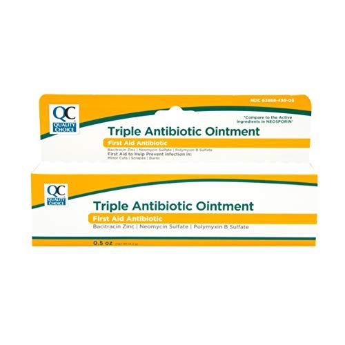 Quality Choice Triple Antibiotic Ointment First Aid 0.5 Ounce Each (1)